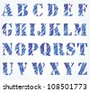 hand drawn sketched vector alphabet - stock vector
