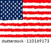 Hand Drawn United States of America Flag - stock vector