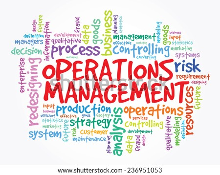 Hand drawn Word cloud of Operations Management related items, vector concept background