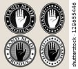 Hand Made Seal / Label - stock vector