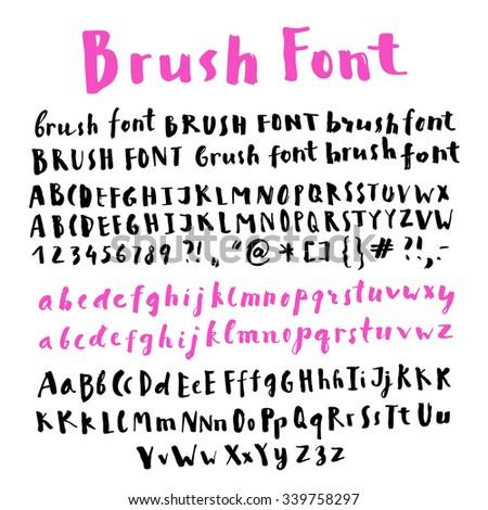 Vector Handwriting Doodle Alphabet Artistic Hand Stock Vector ...