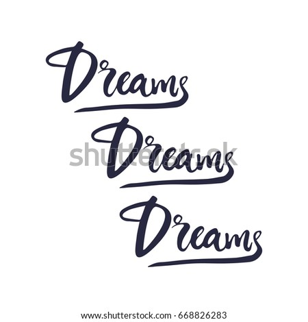 Vector Hand Drawn Motivational Inspirational Quote Stock