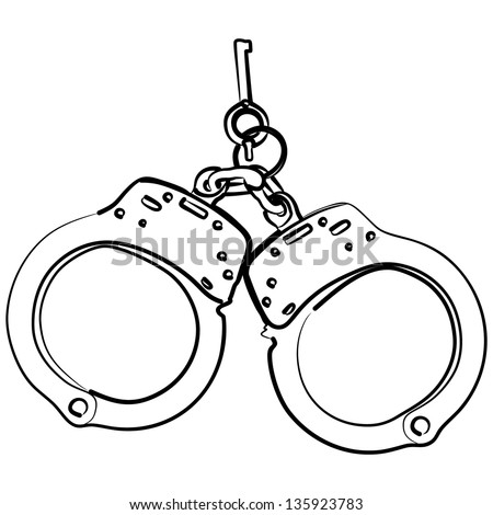 handcuffs stock vector 133049741 - shutterstock