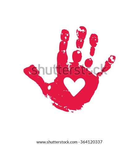 handprint heart craft shape formed colorful handprints colorful stock 2152