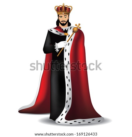 Handsome King Eps 10 Vector Grouped For Easy Editing No Open Shapes Or