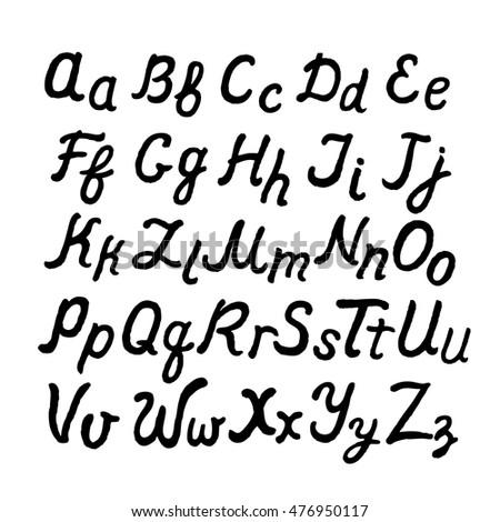 Alphabet Handwritten Permanent Marker Small Letters Stock Photo ...