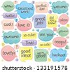 Handwritten Phrases In Speech Balloons - stock vector