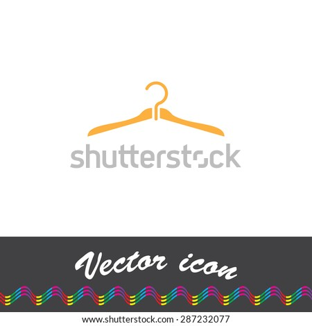 dry cleaning service logo template hanger stock vector