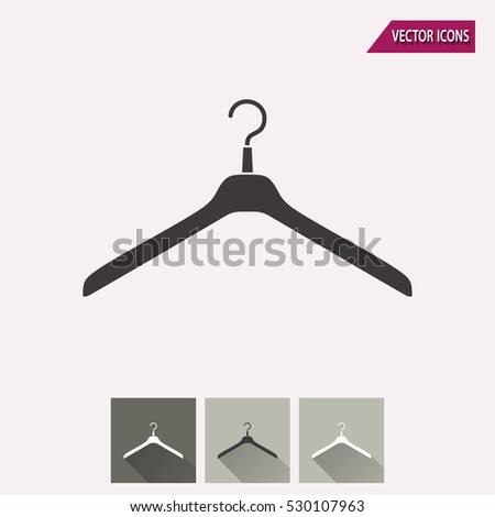 Hanger vector icon. Illustration isolated for graphic and web design.