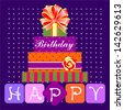 Happy Birthday Card, Vector Version - stock