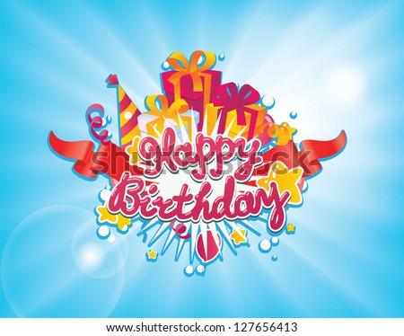 Happy Birthday Greetings Card Design Element Vector – Birthday Greetings Design
