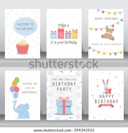 Birthday holiday christmas greeting invitation card stock vector happy birthday holiday christmas greeting and invitation card there are typography gift stopboris Choice Image