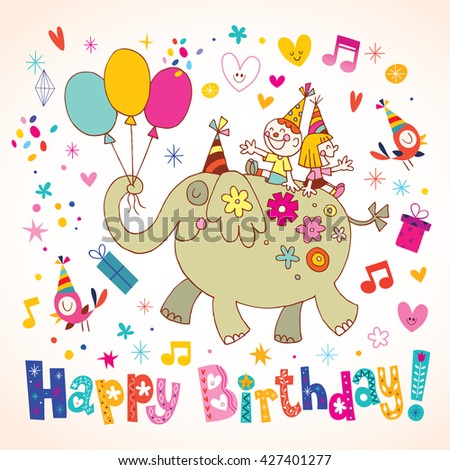 Happy Birthday kids greeting card