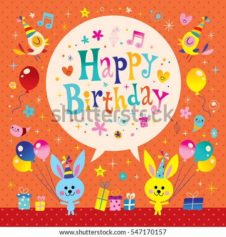Happy Birthday Card Cute Owls Vector 106916396 Shutterstock – Cute Birthday Cards for Kids