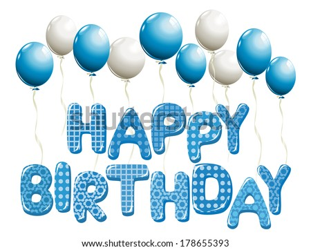 Happy Birthday Card Balloon Stock Vector 356270126 ...