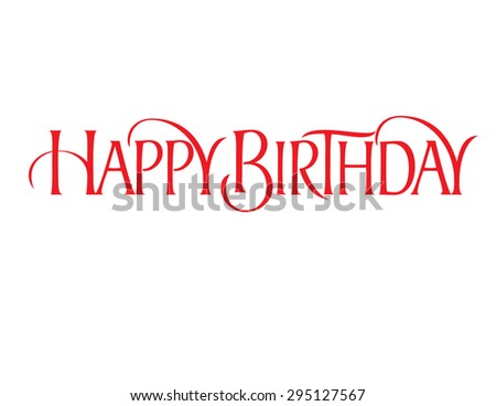 Happy Birthday 1 Liner Script Hand Lettering Vector