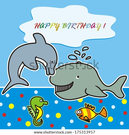 happy birthday - marine life