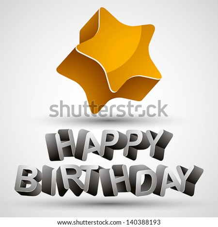 Happy birthday phrase made with