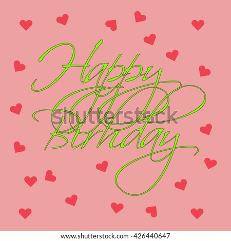 Happy Birthday Post Card On Pink Vector 426440623 Shutterstock – Happy Birthday Post Cards