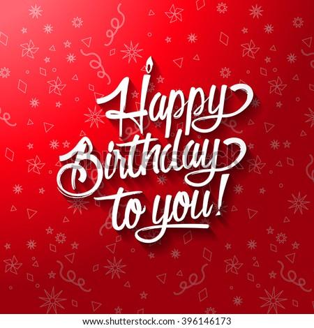 Happy Birthday You Lettering Invitation Greeting Vector – Happy Birthday Greeting Text