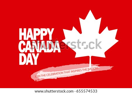 happy canada day greeting card poster stock vector 655574557 shutterstock. Black Bedroom Furniture Sets. Home Design Ideas