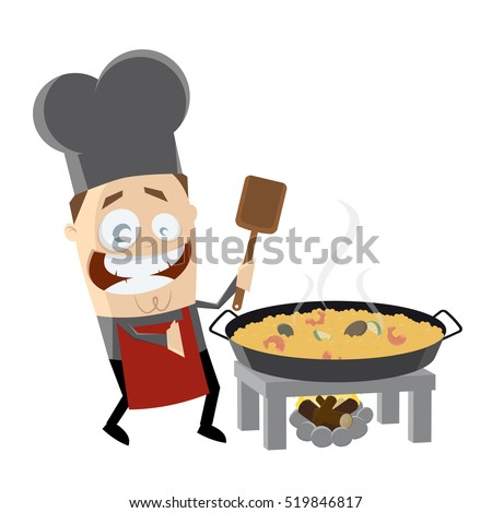 Drawn vector illustration of an chef pig making bbq stock vector - Hand Drawn Cartoon Bbq Chefbarbecue Guy Stock Illustration