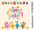 Happy Easter greeting card - stock vector