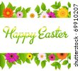 Happy Easter Greeting Card, Vector Illustration - stock photo
