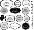 Happy Easter! Set Retro Tag. Vector Illustration - stock vector