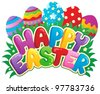 Happy Easter sign theme image 3 - vector illustration. - stock vector