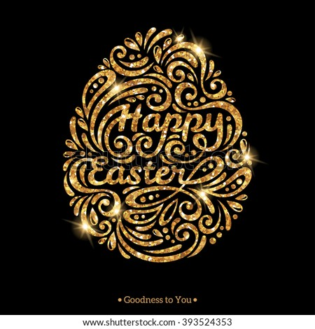 Happy Easter Greeting Cards Paper Cut Stock Vector 372837100