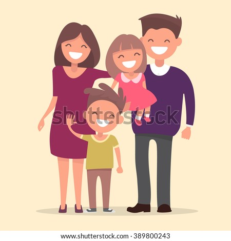 Happy gay family - women and baby Vector Image of