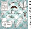 Happy Father's day background - stock vector