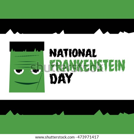 Happy frankenstein day vector illustration stock vector for T shirt printing nyc same day