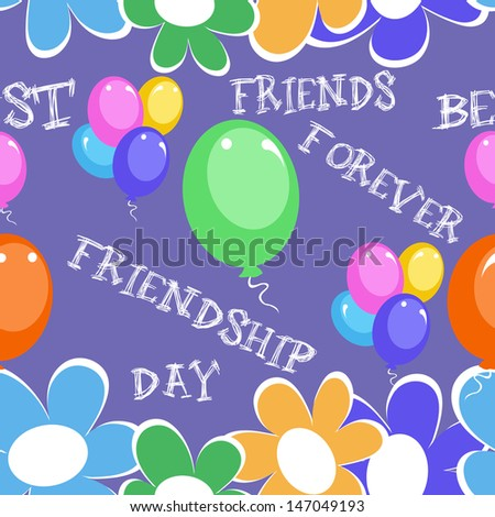 Happy Friendship day seamless background.