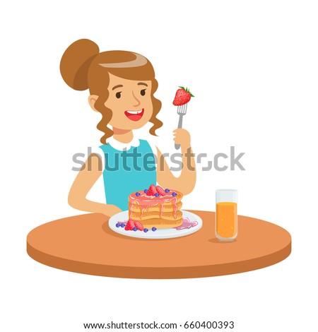 Woman Presenting Cake Boy Kids Birthday Stock Vector 553083952