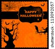 Happy Halloween greeting card - stock vector