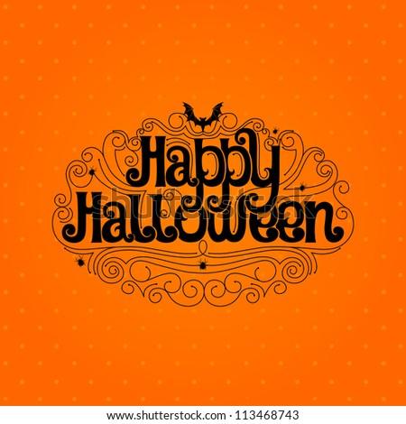 Happy Halloween Typography Banner Stock Vector 113468743 ...