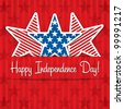 Happy Independence Day star card in vector format. - stock photo