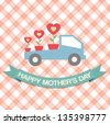 Happy Mother's Day Greeting Card - stock vector