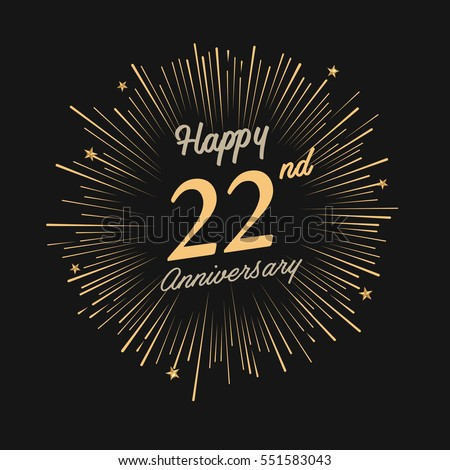 Happy 32nd Anniversary Fireworks Star On Stock Vector