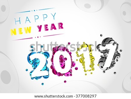 Happy New Year 2017 background design