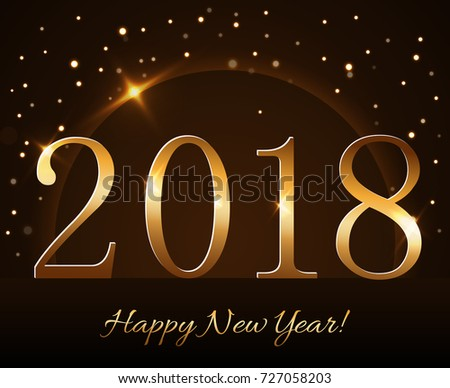 Happy New Year Background Magic Gold Stock Vector 536185372 ...