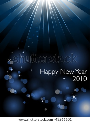Happy New Year card - Vector EPS10 file