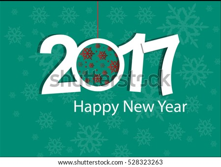Happy New Year 2017 celebration card or background.
