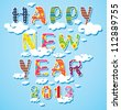 Happy new year 2013, colorful design / Rejoicing - stock vector