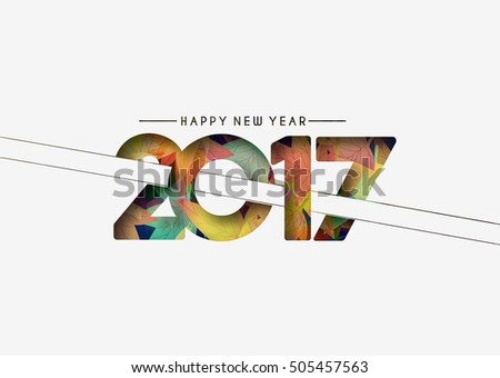 Happy new year 2017 design elements for holiday cards, decorations Vector Illustration background