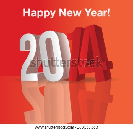 Happy New Year Greeting Card | 3D Letters
