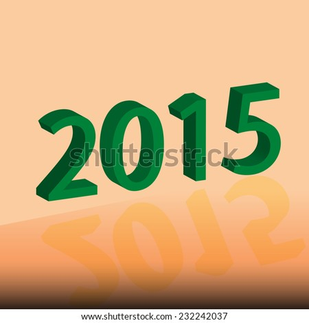 Happy New Year 2015 illustration, vector eps.10.