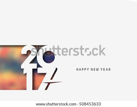 Happy new year 2017 text design elements for holiday cards decorations Vector Illustration background